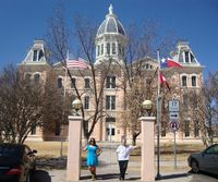 6 Tee & Shirley in front of Marfa courthouse