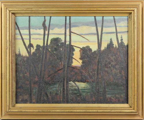42 GRD NEW ENGLAND LAKE SCENE - Lot 253 Potomack Frame
